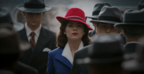AgentCarter-s1e1-Peggy-red-hat