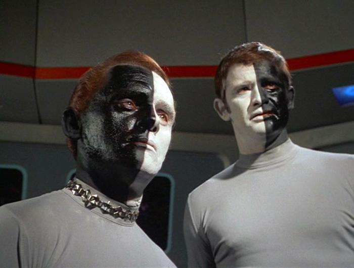 Black/White Star Trek aliens