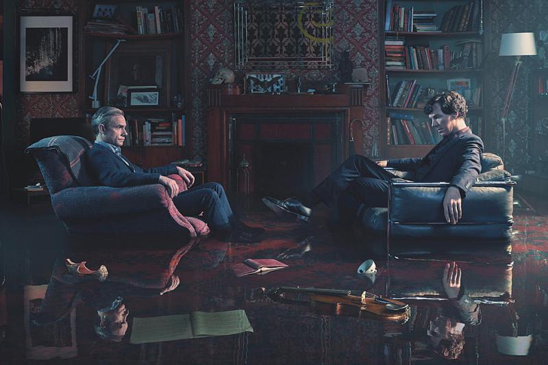 Benedict Cumberbatch en Martin Freeman
