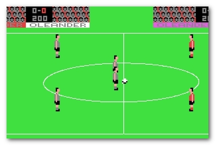 Soccer game for C64
