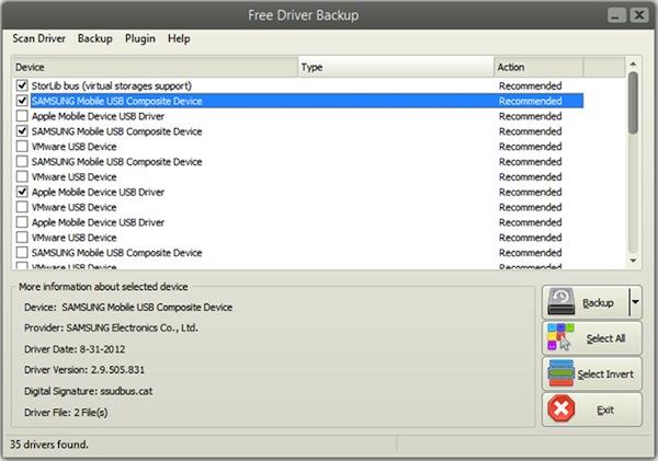 Free Driver Backup, fare il backup dei driver in modo semplicissimo