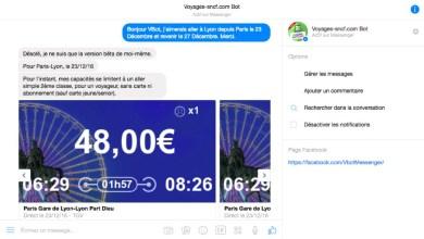 Photo of Réservez votre billet de train avec le chatbot de Voyages-sncf.com sur Facebook !