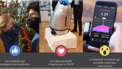Photo of [3 innovations en 1minute] Découvrez Wair le foulard anti pollution, Baryl la poubelle mobile, Proof le bracelet qui surveille votre alcoolémie
