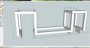 Google Sketchup model of the Halfway frame.