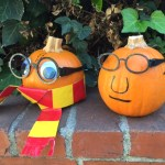 The same glasses design can be modified after printing to wrap around the pumpkin and to have different shaped lenses.