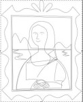 Removing the fill from the Mona Lisa SVG paths reveals hidden lines that were previously covered.