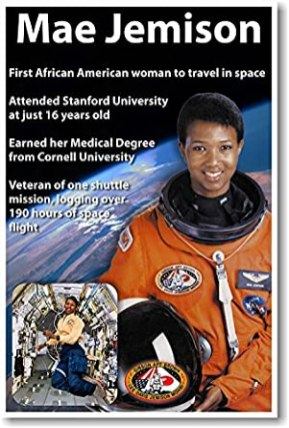Dr. Mae Jemison-First African American Woman in Space