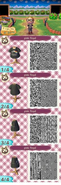 Camiseta Pink Floid Animal Crossing