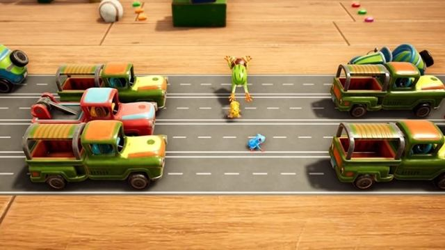 Frogger in Toy Town - Gameplay