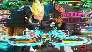 Xeno Vegeta SSJ face à Gokua