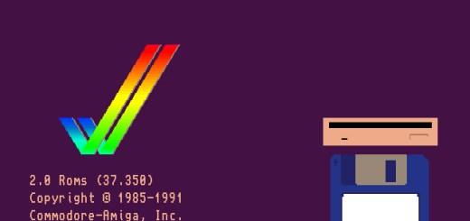 Amiga Workbench 2.05 Bootscreen.