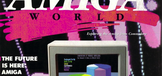 "The cover of the first edition of ""Amiga World"" magazine, circa fall 1985."