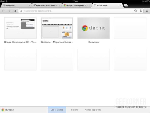 Google Chrome iPad12