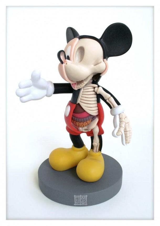 Mickey-Anatomie-Jason-Freeny-Sculpture-Geekorner