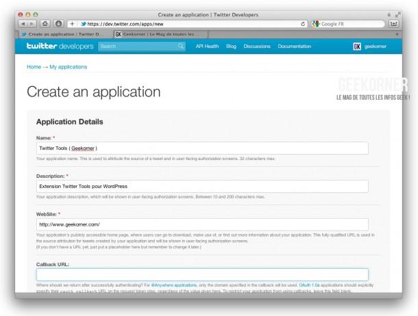 Twitter-API-Creation-Geekorner