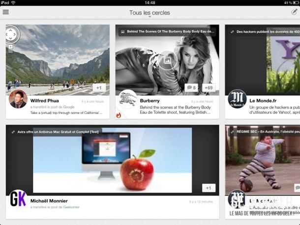 Google Plus iPad - Geekorner - 07