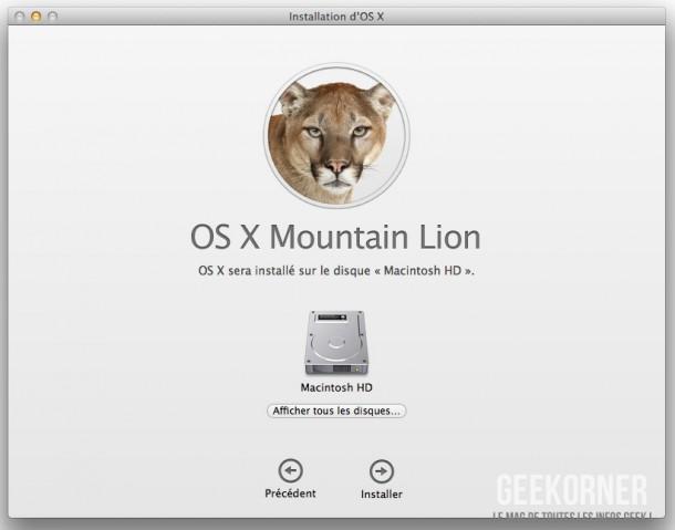 Installer Mountain Lion - Geekorner  - 04