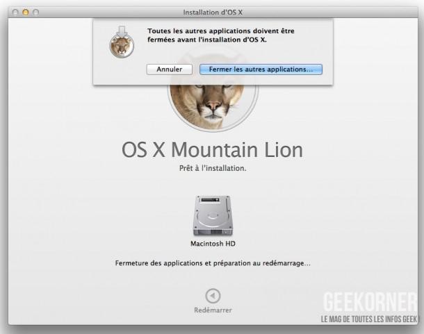 Installer Mountain Lion - Geekorner  - 09