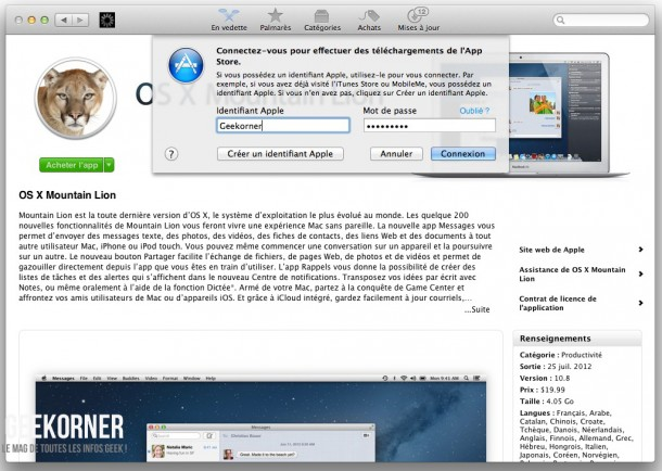 Télécharger Mountain Lion - Geekorner - - 03