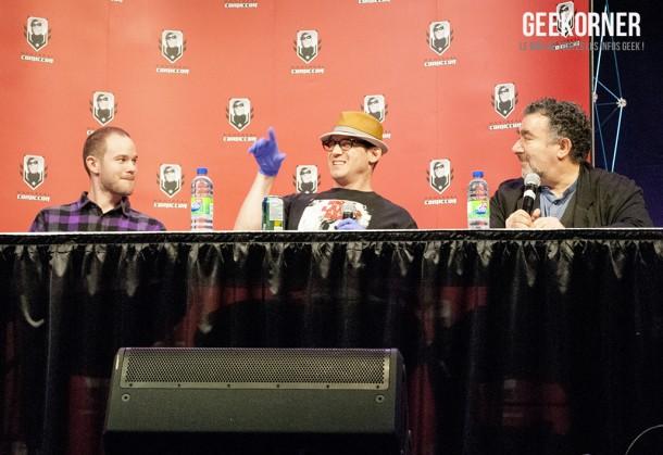 Warehouse 13 - Eddie McClintock - Saul Rubinek - Aaron Ashmore - Comiccon Montréal 2012 - Geekorner - 018