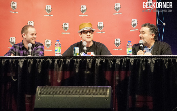 Warehouse 13 - Eddie McClintock - Saul Rubinek - Aaron Ashmore - Comiccon Montréal 2012 - Geekorner - 019