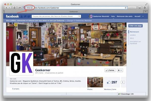 Facebook HTTPS - Geekorner