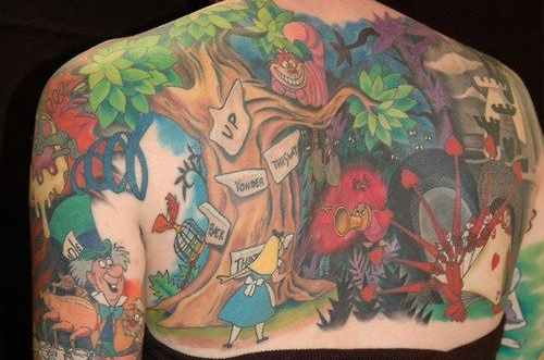 Medway, MA-based tattoo artist Holly Azzara has condensed the story of Alice