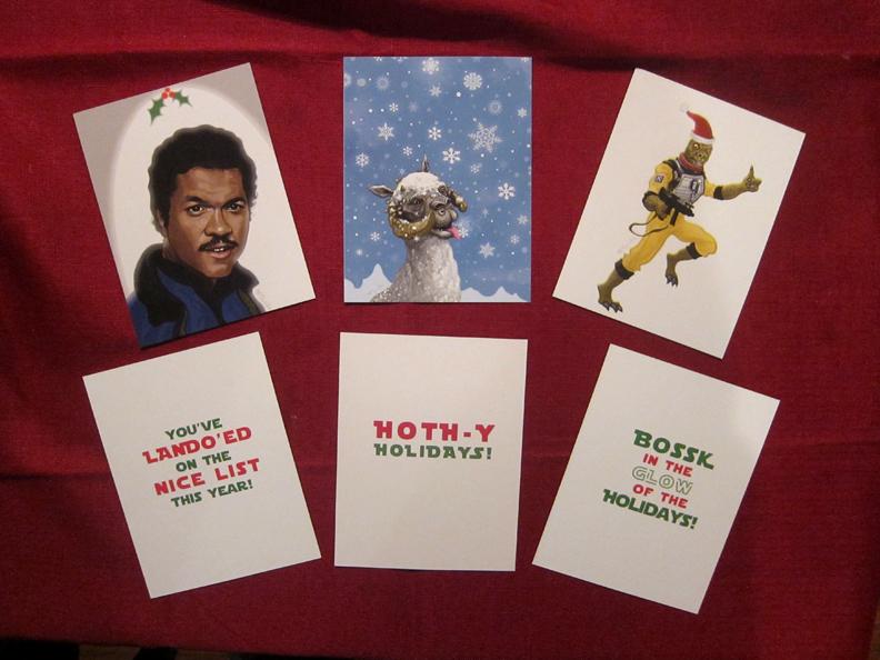 Patrick McQuade Star Wars Christmas Holiday Cards The