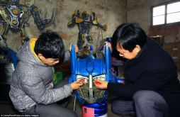 Transformers construits chine voitures pièces recyclage (2)