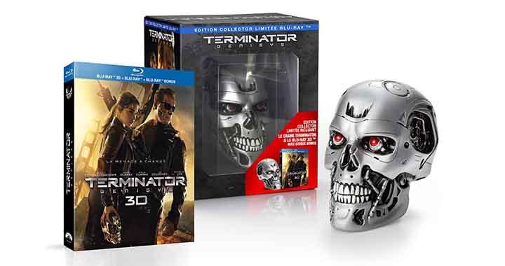 Coffret collector Terminator Genisys inclus un crâne