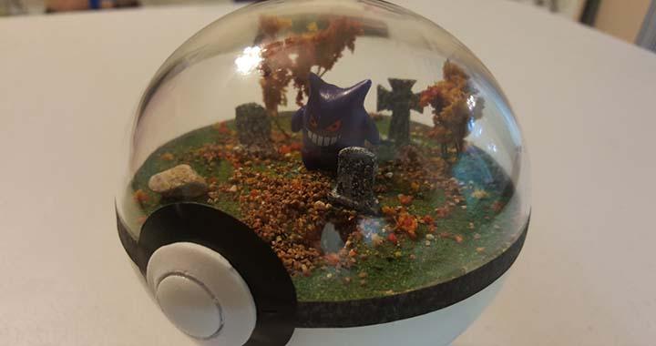 Des diorama pokéball, fait maison