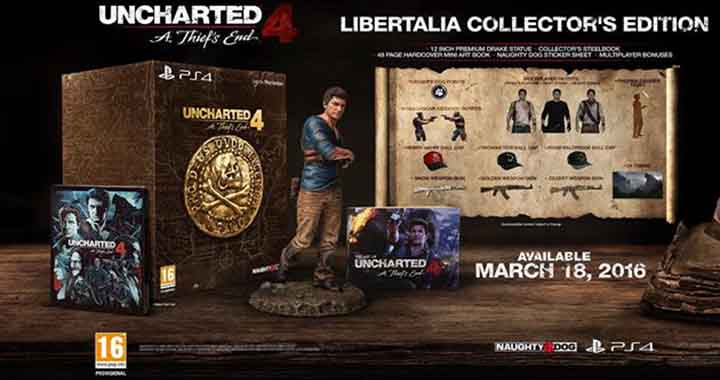 L'édition Collector Uncharted 4: A Thief's End