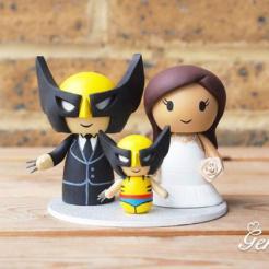 gâteau de mariage Geek batman cake topper ironman wolverine marvel dc star wars mario jeux vidéo (1)