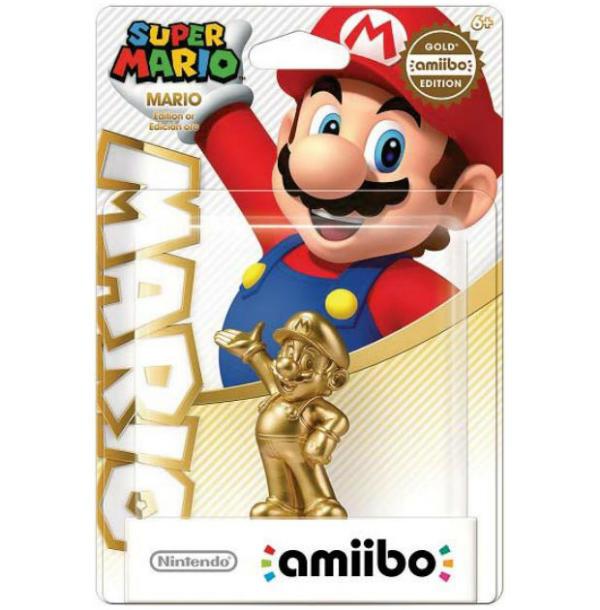 Mario Amiibo doré figurine nintendo wiiu