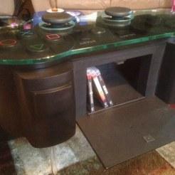table de salon controleur playstation dualshock 3 woodcurve