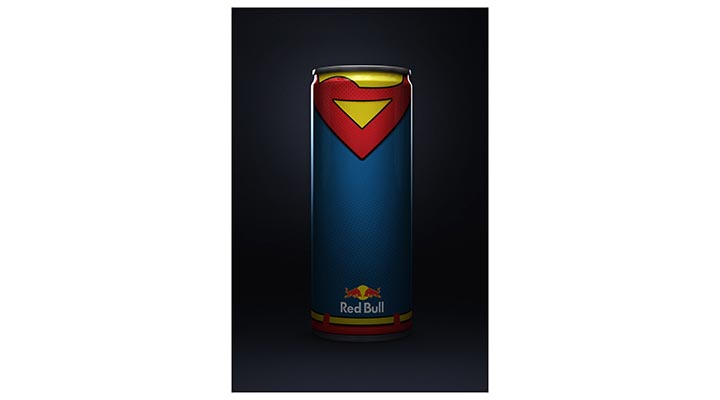red bull super-heros superman flash batman aquaman wonder woman (1)