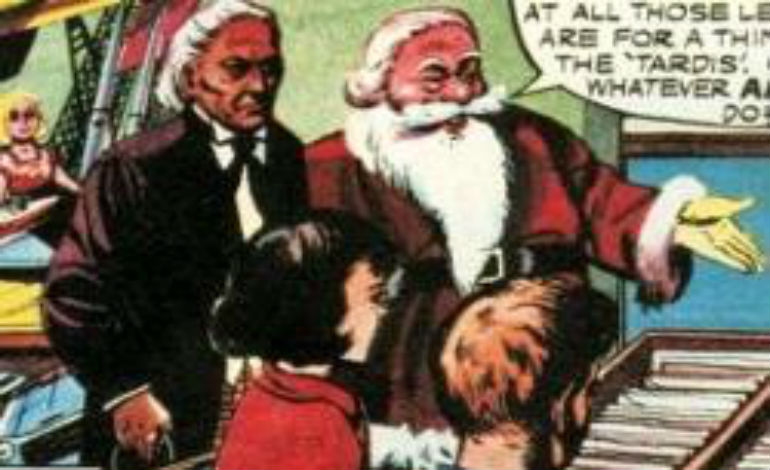 "The First Doctor first  meets Santa Claus in the 1965 comic ""A Christmas Story"""