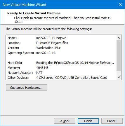 Install macOS Mojave on VMware on Windows PC – MABOTBUZZ