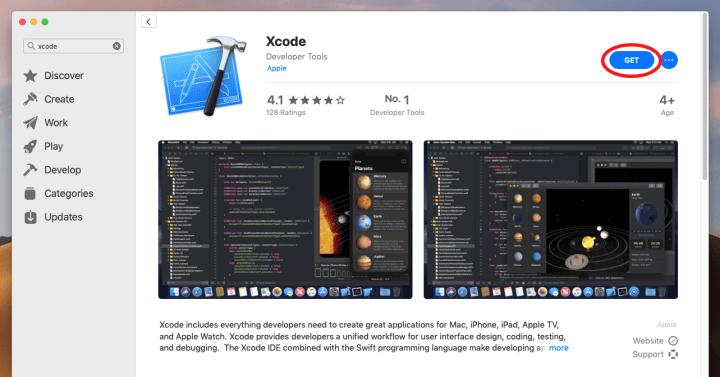 Xcode on App Store