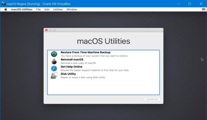 macOS Recovery Mode -macOS Utilities