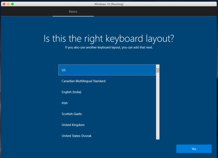 Select Your Keyboard Layout