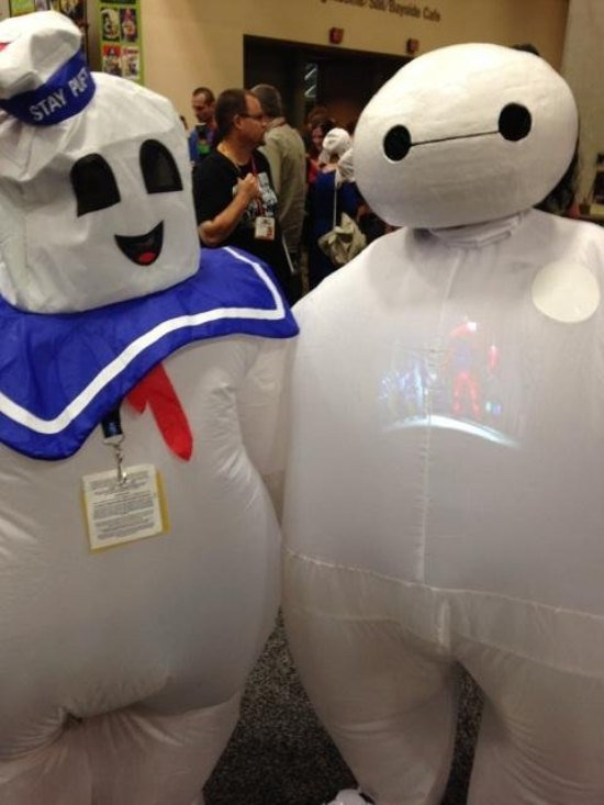 I had no idea The 'Stay Puffed' Marshmellow Man had a best friend with an invincible television screen in his chest? Is The Marshmallow Man lending help to his bald-headed friend who will maybe be a part of the Ghostbusters 3 movie cast? I guess we'll have to wait and see.
