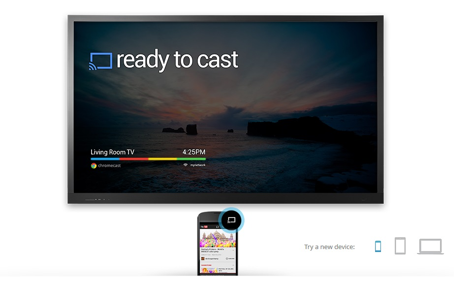 Google Chromecast - Ready to Cast - Juillet 2010