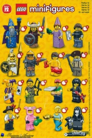 Lego - Minifures - Serie 12 - Planche