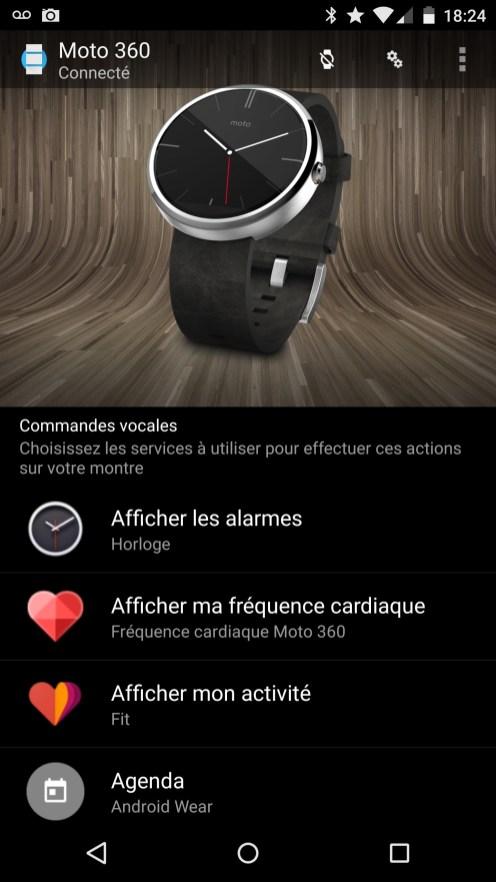 Motorola Moto 360 - Application Android Wear 1