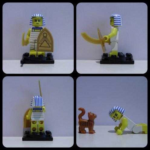 Chaque Égyptien se doit de s'agenouiller devant tout félin! *Prenez note que le LEGO Chat n'est pas inclus dans l'ensemble.