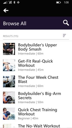 Application Mobile Microsoft Band 4