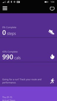 Application Mobile Microsoft Band