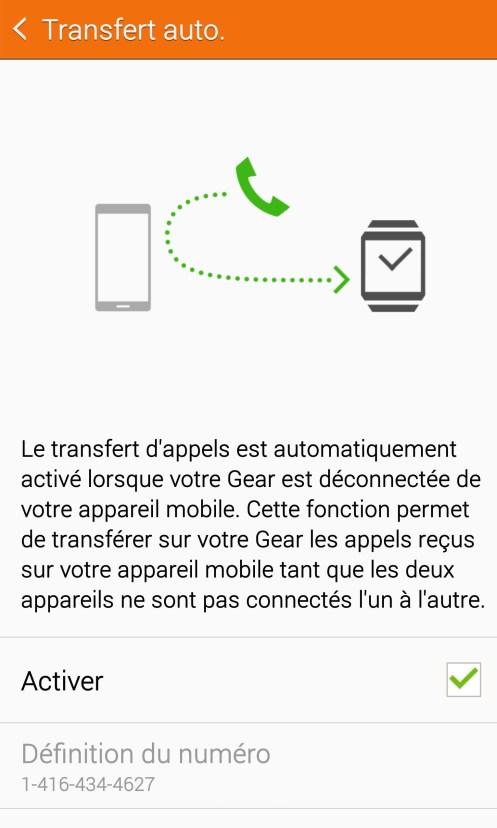 Samsung Galaxy Gear S - Transfert appels 2