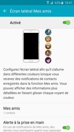 Galaxy S6 Edge Ecran Mes Amis 01